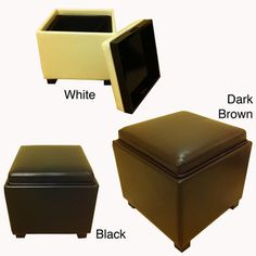 @Overstock - Constructed with a sturdy wood frame with baseball-stitched bicast leather upholstery, this storage ottoman will be a welcome addition in any room. This sleek ottoman is finished with removable feet for even more styling options.http://www.overstock.com/Home-Garden/Classic-Faux-Leather-Square-Storage-Ottoman/7601510/product.html?CID=214117 $86.99