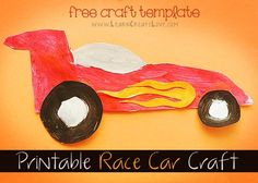Printable Race Car Craft   LearnCreateLove.com