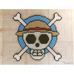 One Piece perler beads by hannah