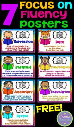 Reading Fluency Posters... FREE! (Plus additional free fluency activities for students in grades 2-5!)
