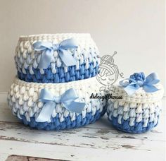 The most beautiful Crochet basket and straw models Crochet Bowl, Crochet Basket Pattern, Knit Basket, Crochet Art, Crochet Motif, Basket Weaving, Crochet Patterns, Crochet Baskets, Yarn Projects