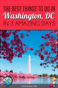 Your ultimate Guide to Washington DC - Things to do in 3 days, where to visit, where to stay, how to get around and more. A practical guide to all important sights in Washington, DC. #USAtravel #vickiviaja