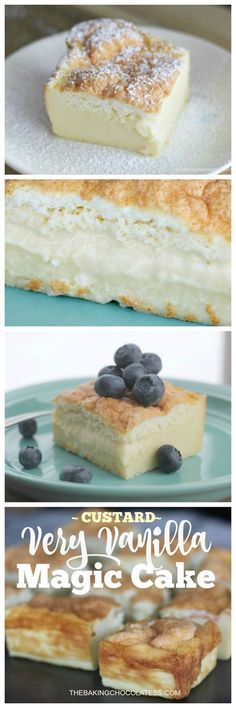 Very Vanilla Magic Custard Cake -Here's a wonderfu…