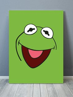 Kermit The Frog Pop Canvas Art - painting ideas on canvas - Disney Canvas Paintings, Disney Canvas Art, Simple Canvas Paintings, Easy Canvas Art, Small Canvas Art, Easy Canvas Painting, Mini Canvas Art, Cute Paintings, Abstract Canvas Art