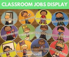 Get your elementary school students excited about classroom jobs with this super cute and large variety of classroom student job cards.