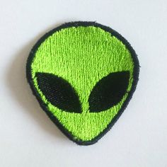 Retro Alien Patch Embroidered Alien Iron on by AlienFashionsUK