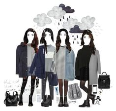 """""""rainy"""" by toscadewilt ❤ liked on Polyvore featuring Pretty Polly, Chicnova Fashion, Dickins & Jones, Hunter, Monki, Dr. Martens, Herschel, Lovebullets, Uncommon and Korres"""