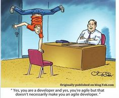 Yes, you are a #developer and yes, you're #Agile but that doesn't necessarily make you an agile developer...