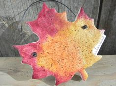 Salt Dough Leaf Ornament / Autumn Leaves by cookiedoughcreations, $5.95