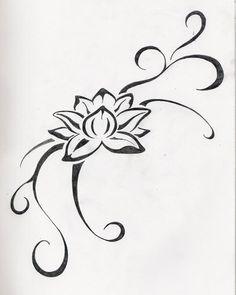 tattoo lotus black and white - Google Search