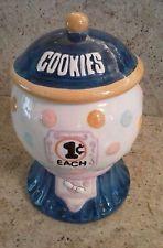 Gum Ball Machine, Cookie Jar with Box - Action Industries - Vintage Mccoy Cookie Jars, Gumball Machine, Vintage Cookies, Biscotti, Cookie Decorating, Cookies Et Biscuits, Salt Shakers, Box, Cookie Monster