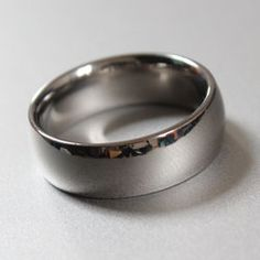 Titanium D shape ring