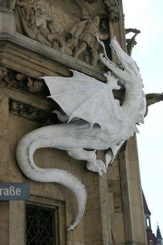 Munich - Dragon on the city hall building