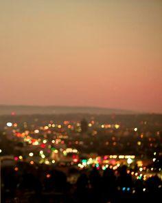 orange pink peach neutral city lights...hollywood hills