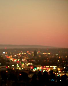 orange pink peach neutral city lights...hollywood hills