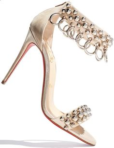 Christian Louboutin 'Gypsandal' Ring-Trim 100mm Red Sole Sandals