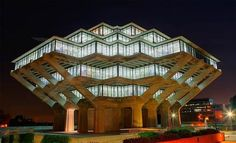 Geisel Library, San Diego, California. The Geisel Library is on the campus of the University of California at San Diego and is open to non-students. Description from pinterest.com. I searched for this on bing.com/images