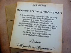 Will you be my best man invitation vintage inspired classic styling will you be my groomsman invitation ask groomsman groomsman wedding invite stopboris Choice Image