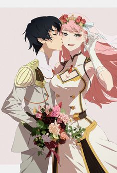 Manga Anime, Anime Couples Manga, Cute Anime Couples, Zero Two, Animes Wallpapers, Polychromos, Best Waifu, Darling In The Franxx, Anime Art Girl