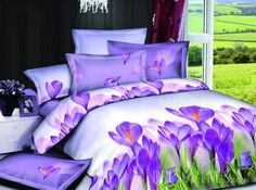 Fantastic Purple 4 Florals Printing Accessories