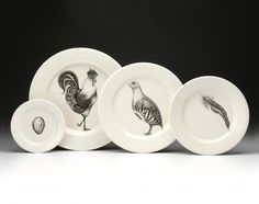 Game bird dinnerware