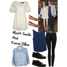 Matt Smith and Karen Gillan