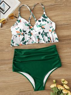 To find out about the Peplum Top With Ruched High Waist Bikini Set at SHEIN, part of our latest Bikinis ready to shop online today!Product name: [good_name] at SHEIN, Category: Bikinis, Price: [good_price] Sport Bikini Set, Bikini Sets, Bikini Modells, High Leg Bikini, Haut Bikini, High Waisted Bikini Bottoms, Sexy Bikini, High Waist Swimsuit, Floral One Piece Swimsuit