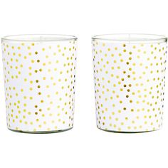 H&M 2-pack candles (€4,15) ❤ liked on Polyvore featuring home, home decor, candles & candleholders, gold, h&m, unscented candles and round candles