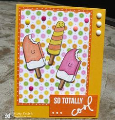 So Totally Cool - Scrapbook.com - Sweet, summery card.