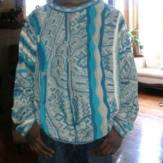 Vintage Coogi Sweater *Teal/Khaki * (LNWOT) Rare Coogi sweater in a richly bold teal & khaki blend gorgeous sweater Gently worn in Fantastic Excellent Like New condition Made in Australia Comfortable roomy  *Posh will hold to Authenticate before it ships*  *PLEASE Note: I'm not sure how this will fit you as our nature of bust & builds are different the size indicated & shown is a Lg. Some stretchy materials*  Shop with Confidence & Common sense to your knowing physique  Thank you! Rk COOGI…