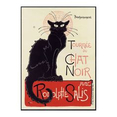 by Vintage Posters From Around The World  Tournee du Chat Noir