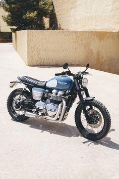 Triumph Cafe Racer, Triumph Bikes, Cafe Racer Bikes, Cafe Racer Motorcycle, Cool Motorcycles, Triumph Motorcycles, Retro Bike, Retro Motorcycle, Image Moto
