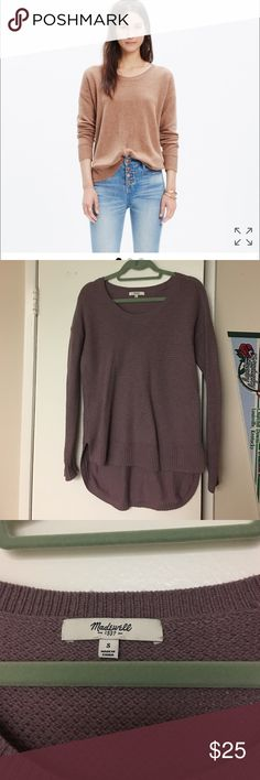 Madewell chronicle texture sweater Size small chronicle sweater in lavender. Gently worn, smoke free home! Madewell Sweaters