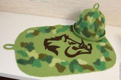 """Купить Шапка для бани и сауны """"Охотник"""" - шапка для бани и сауны, банная шапка, войлочная шапка"""