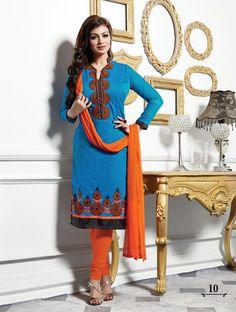 Cotton Indian Salwar Kameez Unstitch 100% Cotton Churidar Shalwar Kameez Suit 19 #OdInParis #Casual