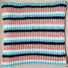 Ever So Striped Super Easy Crochet Baby Blanket | This is the best of free crochet baby blanket patterns; it is perfect for a beginning crocheter to celebrate the beginning of a little life!
