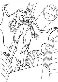 Batman Fargelegging for barn. Tegninger for utskrift og fargelegging nº 36
