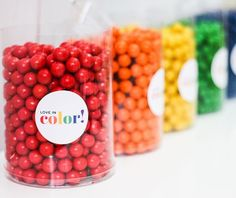 Set the scene for a sweet celebration with these Medium Gumballs. A must-have addition in your candy buffet, place these gumballs in candy buffet jars for birthday parties, graduation parties, wedding receptions and more. Mix and match colors for a super sweet look your party guests will adore. Fruit flavor. (Approx. 275 pcs. per unit) Fat-free. Total wt., 2 lbs. Your candy buffet will stand out with these Clear Candy Cylinders! Mix and match colors or go for a monochromatic color scheme and…