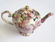 Vintage Arthur Wood & Son Rose Chintz Footed by TheWhistlingMan, £40.00