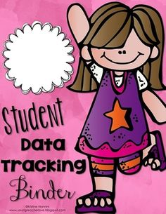 FREE! Adorable Student Data Tracking Binder Covers and Binder Spines {Freebie!}