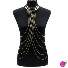 Gold body chain Women ヾ(^▽^)ノ Necklaces&Pendants Alloy Long Necklace Chokers ₩ 2015 Punk Style Sexy Statement Jewelry Gold body chain Women Necklaces&Pendants Alloy Long Necklace Chokers 2015 Punk Style Sexy Statement Jewelry Body Chains, Metal Choker, Diamond Cross Necklaces, Chain Necklaces, Summer Jewelry, Boutique, Punk Fashion, Sensual, Statement Jewelry