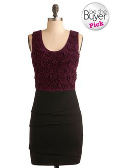 ModCloth Maroon in Bloom- $73.00   Try pairing it with kiltie-fringed heels, a gold cuff bracelet