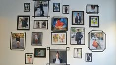 wall washi tape frame