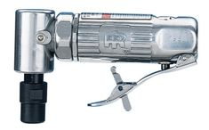 """Ingersoll Rand 301 Standard Duty Multi-Purpose Air Angle Die Grinder. Compact, lightweight, easy to handle. Self-locking throttle. Ball bearing construction for durability. Precision machined gearing delivers maximum power transfer. 1/4"""" air inlet; 3 CFM air consumption."""