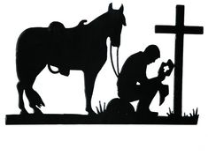 cowboy stencils for painting Metal Cristiano, Cintos Country, Westerns, Remembrance Day Art, Christian Metal, Horse Silhouette, Soldier Silhouette, Lion Brand Wool Ease, Cowboy Art