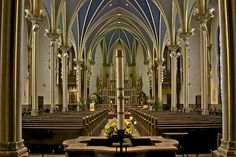 St. Andrew's Cathedral in Grand Rapids  Love this cathedral.  So many of the newer churches do not have the ambiance of the older churches of my youth