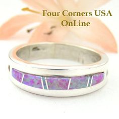 Four Corners USA Online - Size 10 1/2 Pink Fire Opal Inlay Ring Native American Silver Jewelry by Wilbert Muskett Jr WB-1483, $115.00 (http://stores.fourcornersusaonline.com/size-10-1-2-pink-fire-opal-inlay-ring-native-american-silver-jewelry-by-wilbert-muskett-jr-wb-1483/)