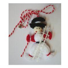 Мартеница Коминочистач Yarn Crafts, Diy And Crafts, Baba Marta, Christmas Crafts For Kids, Christmas Ornaments, Santa Boots, Yarn Dolls, Diy Clay, Wooden Toys