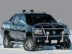 Chevy Avalanche - still looks good with the chrome, and I don't like chrome