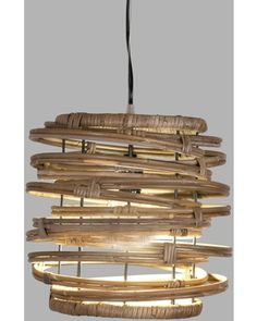 Room Lights, Hanging Lights, Ceiling Lights, Rattan Light Fixture, Small Curls, Small Pendant Lights, Hanging Pendants, Dining Room Lighting, World Market